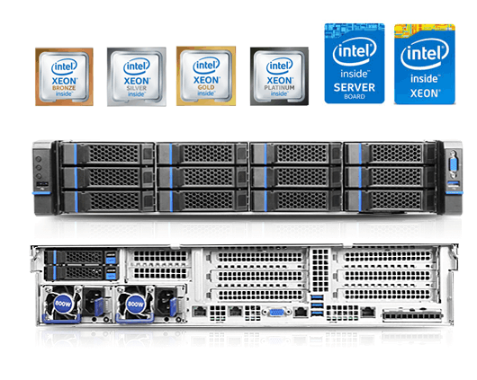 Servidores Dakel Xeon 1500, Rack 2CPU
